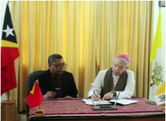 Government hands over a plot of land to the Holy See