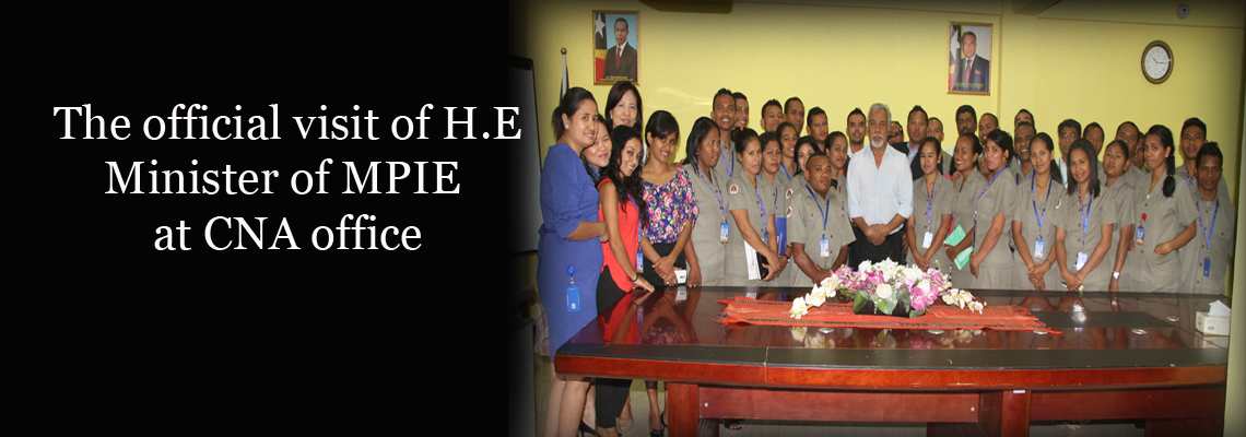 Staff Picture With Minister of MPIE, H.E Mr. Kay Rala Xanana Gusmão